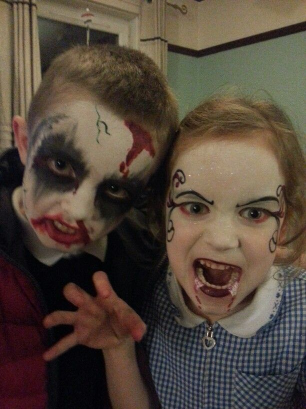 17 Best Images About Spooky Kids Face Painting On