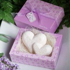 Double Heart Design Guest  Wedding Favour Soap