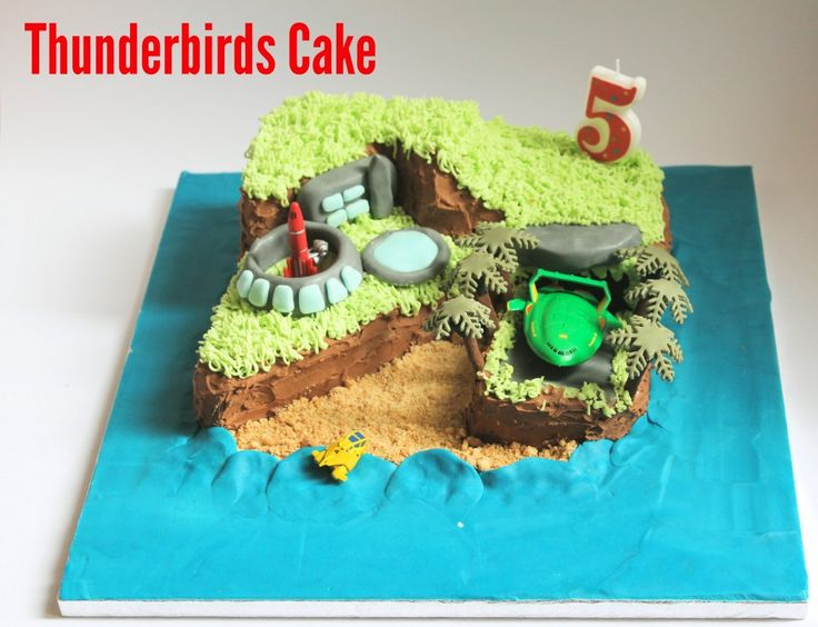 Thunderbirds Cake - Dreaming of a Craft Room