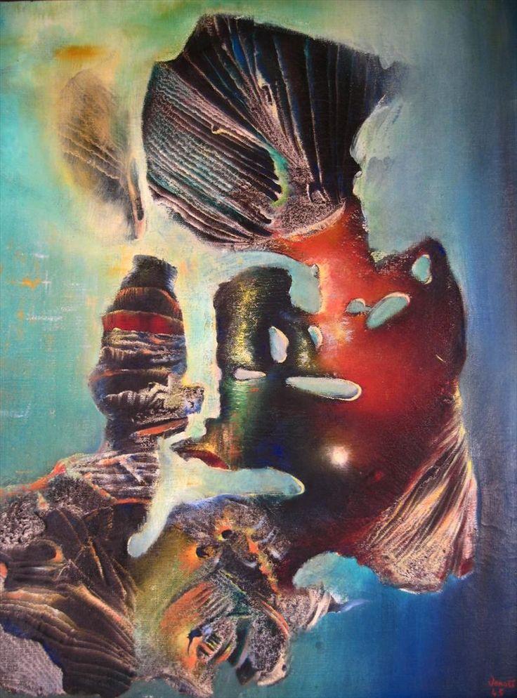 Surrealist painter and sculptor Enrico Donati (American: 1909 – 2008) - 'Etrusque', 1945 - Oil on Canvas