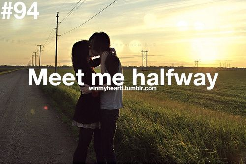 what does mean meet me halfway