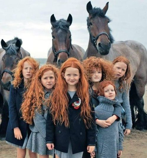 Red headed children.