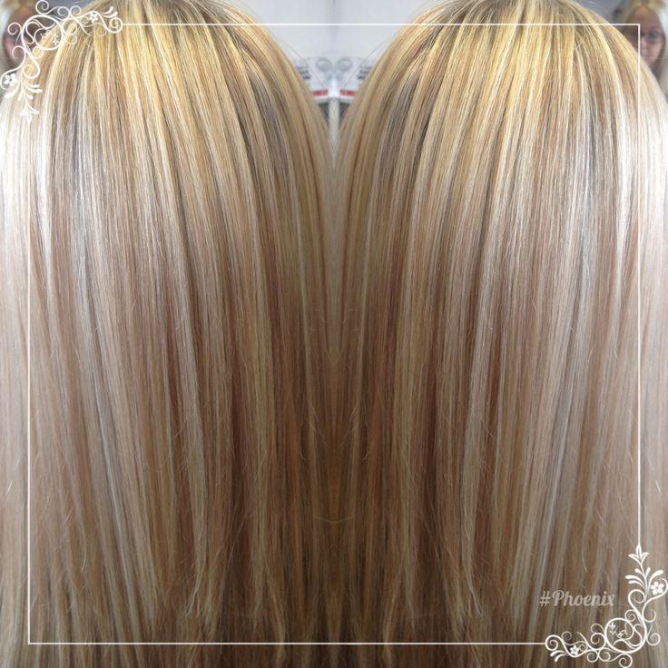 Hi & low baby lights #long hair blonde and light caramel