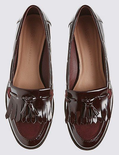 Tassel loafer shoes in a gorgeous wine color. Great fall shows!!