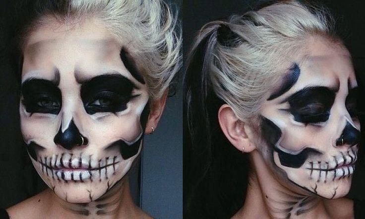 Skelett-Make-up