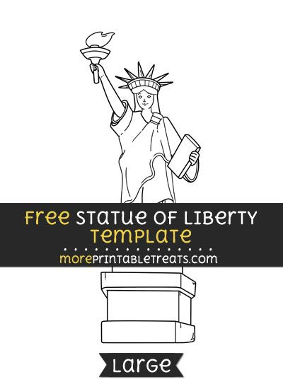 picture about Printable Statue of Liberty Template named Free of charge Statue Of Independence Template - Hefty Designs and