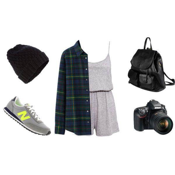Nyc day1 by jasmine-adisbeth on Polyvore featuring мода, Uniqlo, H&M, New Balance, PARENTESI, Accessorize and Nikon