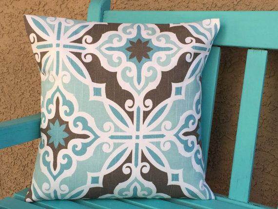 throw pillows sofa teal 18x18 accent pillow by