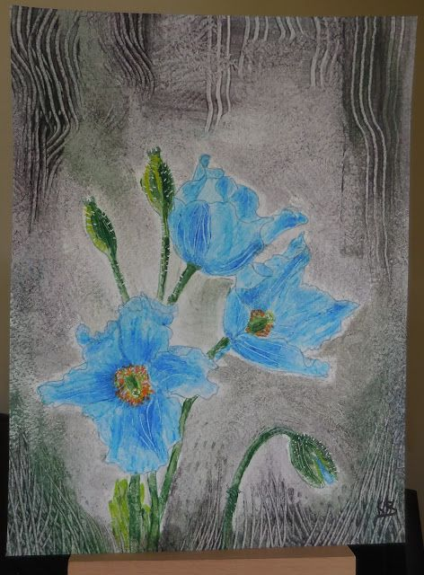 Watercolour with wallpaper paste! Glue painting,