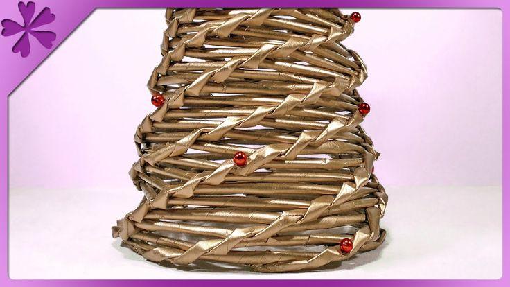 DIY Choinka z papierowej wikliny / Paper wicker Christmas tree (+ENG Ann...