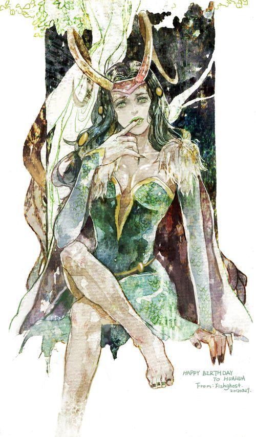 Lady Loki by fish-ghost.deviantart.com on @deviantART