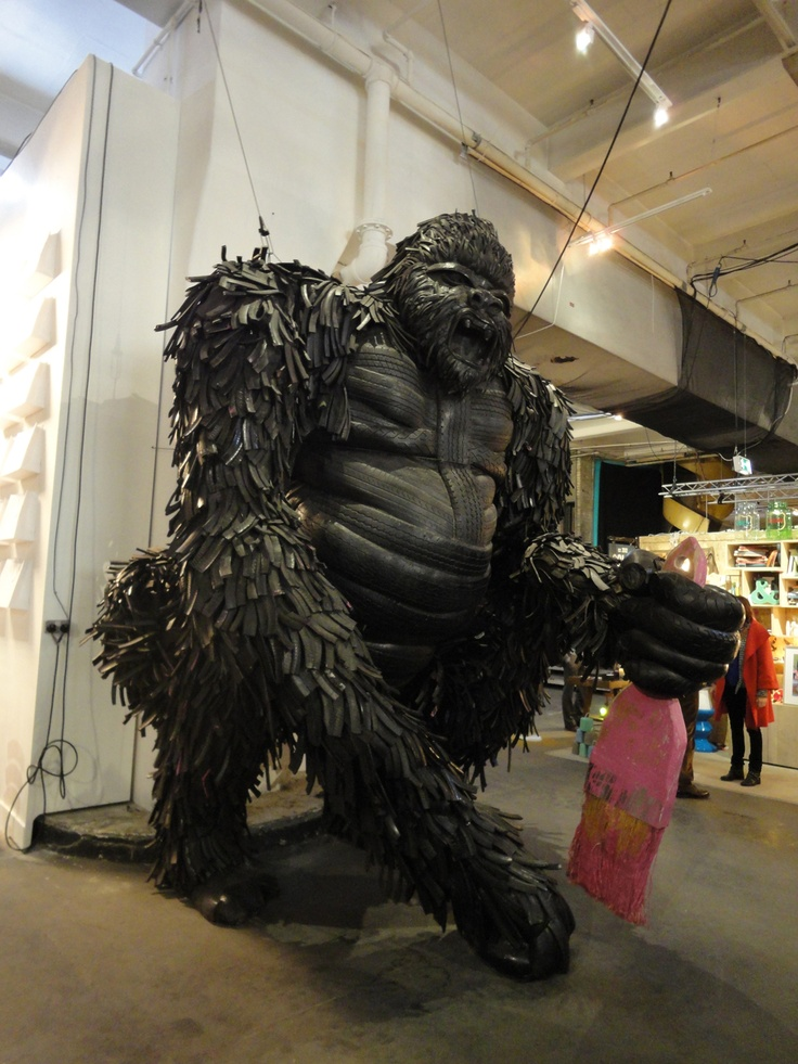 Gorilla made of tyres, Design Junction 2012