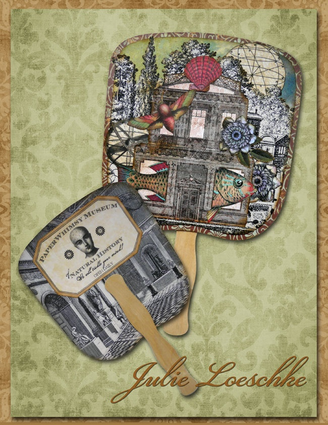 paperwhimsy.com » Blog Archive » An Ode to Paddle Fans Posted by Posted by: Assemblages Repurposed Object, Paperwhimsi Art, Paperwhimsy Com, Art Inspiration, Altered Art Mixed, Paper Fans, Paddles Fans, Art Ideas, Art Mixed Media