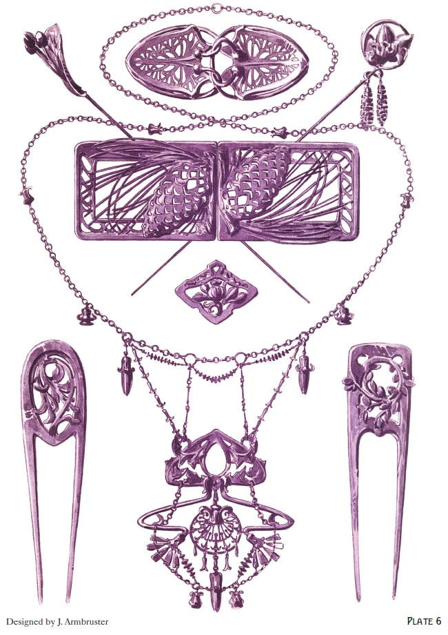 ART NOUVEAU JEWELRY DESIGNS By: Rene Beauclair - Welcome to Dover Publications - Excerpt  2