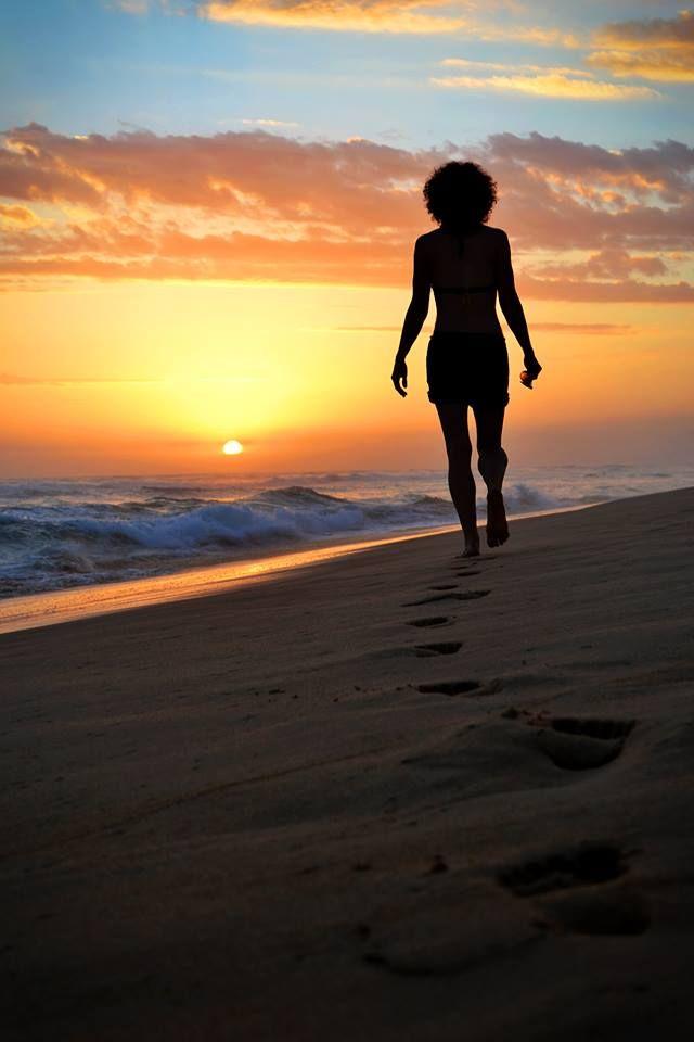 glentana beach, silhouette.