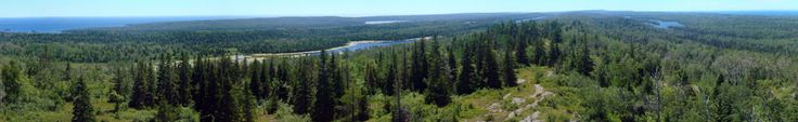 A mid-afternoon veiw down the expanse of Isle Royale National Park. Photo taken from the Mount Ojibway Fire Tower. Lovely - want to go there.