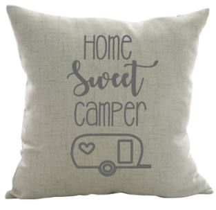 Home Sweet Camper Pillow Camping Pillow Camper Decor Custom