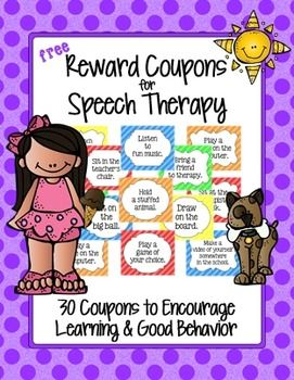 Reward Coupons for SLPs (Freebie!) These are Awesome!!!