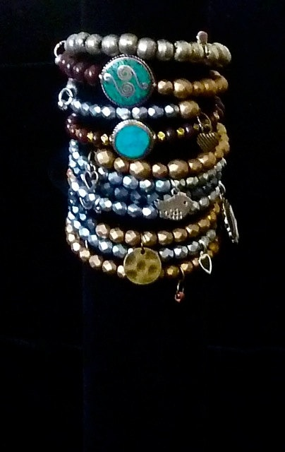 STACKABLE  BRACELETS  Wear One or More  from The Joy Moos Collection,
