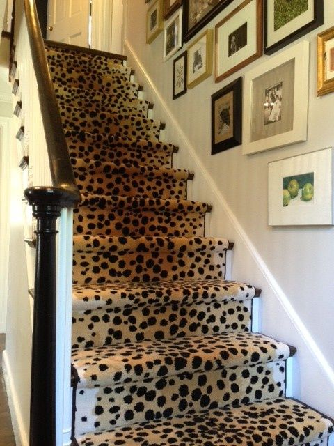 Leopard stairs. nothing better. go girl. @elementstyle