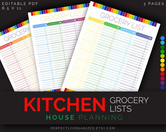111 best Food - Meal Planner images on Pinterest Organizers - food shopping list template