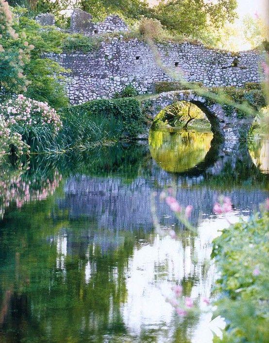 Ninfa Gardens, South of Rome, Italy