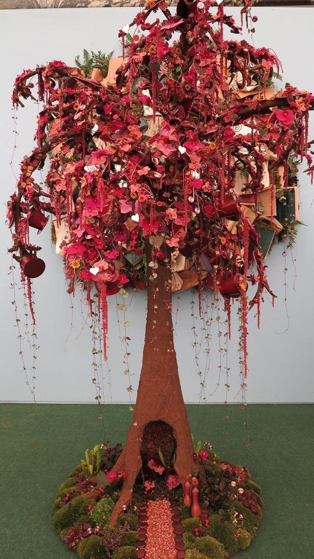 Chelsea Flower show award winning Fantasy Tree by Charlotte Murrant