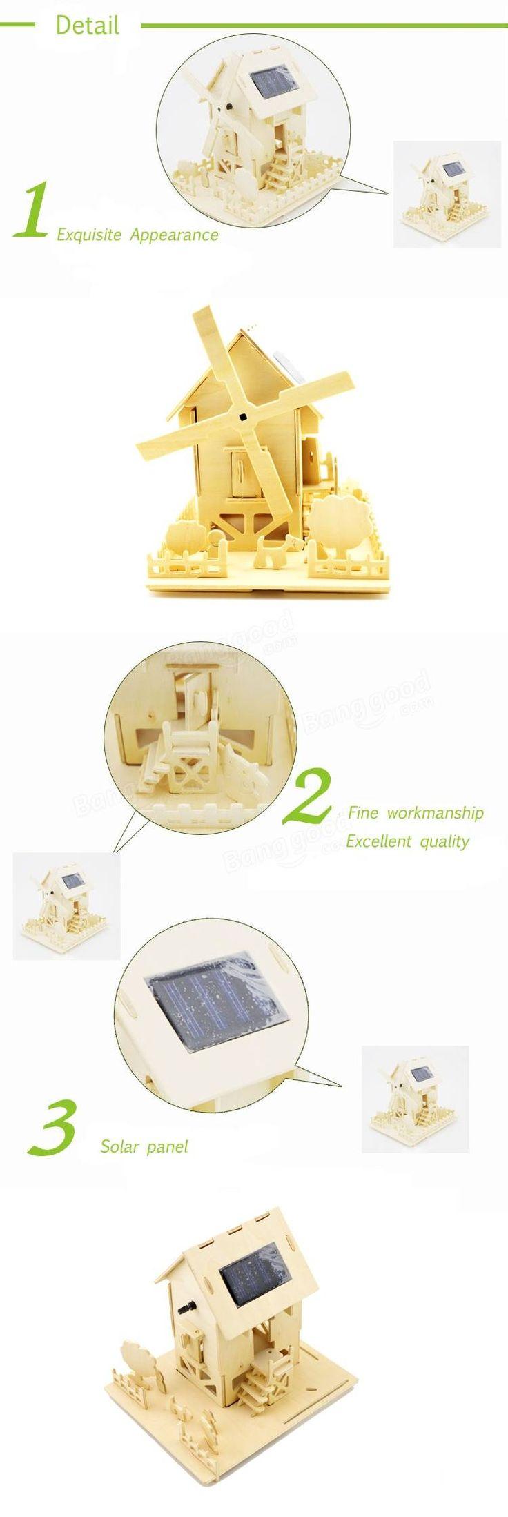 DIY Solar Power Waterwheel Windmill Carousel Puzzle Building Toy Kit Sale - Banggood.com