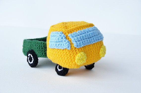 Pickup Truck - Pick-up - Truck - Amigurumi Vehicle Toy - CROCHET PATTERN No.127