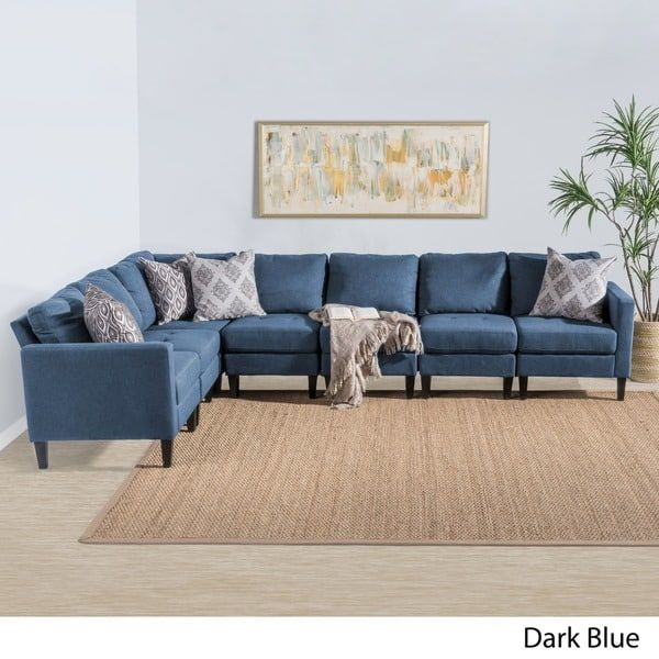 Zahra 7-piece Fabric Sectional Sofa Set by Christopher ...