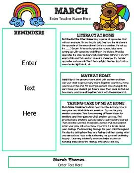 1000 ideas about preschool newsletter templates on pinterest preschool newsletter parent. Black Bedroom Furniture Sets. Home Design Ideas