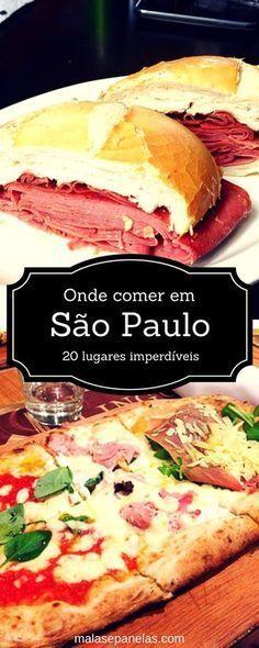 20 lugares para comer em São Paulo