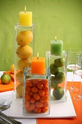 Cozinha d'alê: Arranjos de mesa. Decoração com Frutas ou Grãos