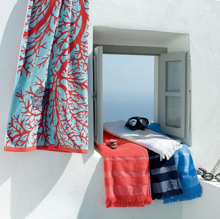 17 meilleures id es propos de rideaux de douche corail sur pinterest coul - Draps descamps soldes ...