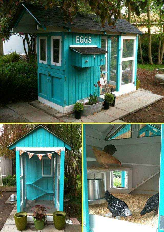 Best Chicken Houses Ideas On Pinterest Chicken Coops Diy - Chicken co op with flowers