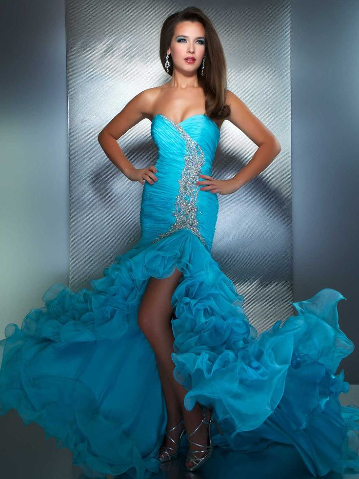 Blue High Low Dresses For Teenagers