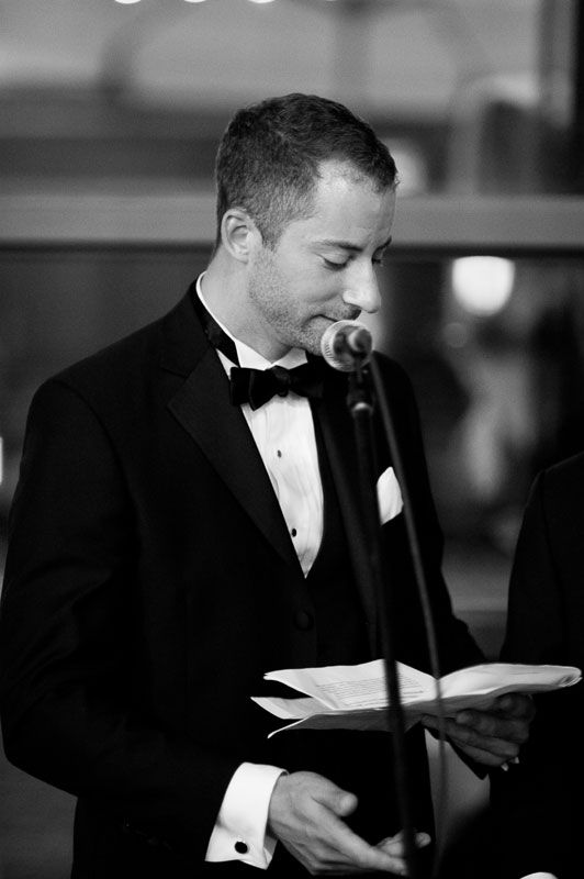 Steam Whistle Brewery wedding photography Toronto // Groom's speach to The Bride