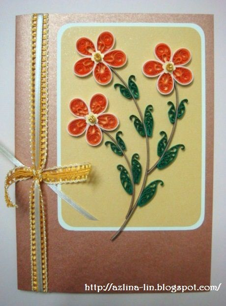 Lin Handmade Greetings Card: Malaysian flower