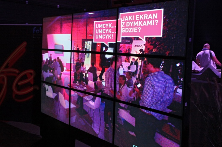 """Huge flat screen with kinect sensor, prepared by Digital One Agency in cooperate with Pepsi , """"refreshed"""" minds of the Festival guests."""