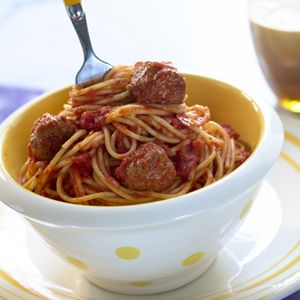 Sneaky Spaghetti from the Sneaky Chef (meatballs with hidden veggies inside.)