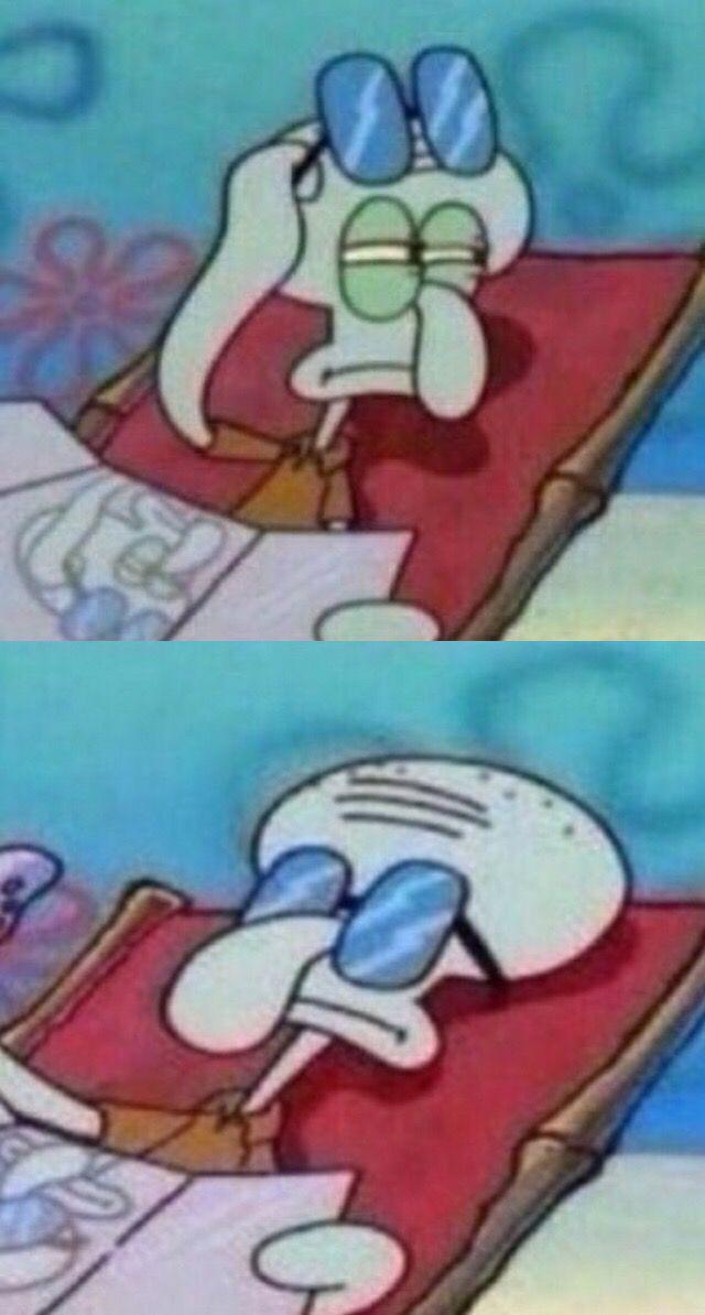 Yeppp😂😂😂😂 freetoedit spongebob squidward meme mem...  Spongebob Meme Squidward