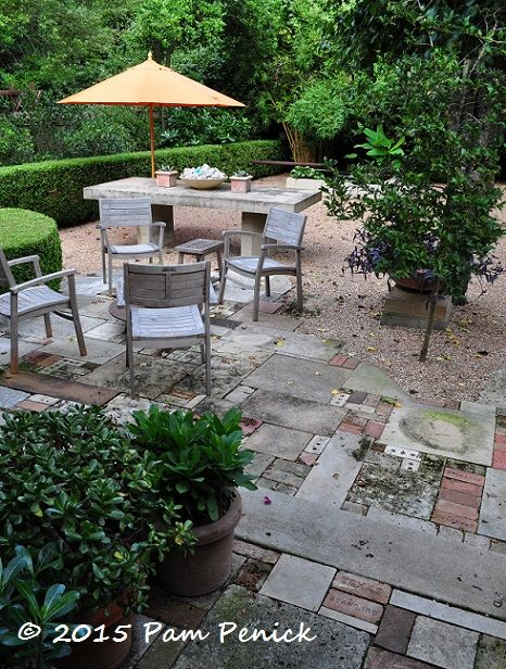 replace half your lawn with a fun paver patio andor gravel entertaining space lively formality in the garden of deborah hornickel
