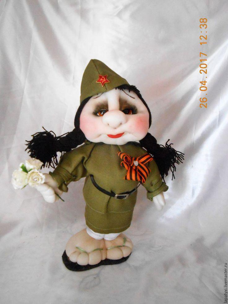 Купить Кукла Военная - хаки, 9 мая, подарок, военному, военный стиль, кукла, победа