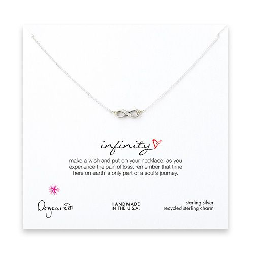 infinite necklace sterling silver infinity