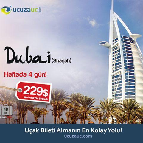 DUBAİ'YE UÇUYORUZ! Dubai uçak seferlerimiz için ucuzauc.com sitemizden ya da 0212 221 12 21 nolu telefonumuzdan bilgi alabilirsiniz. Ayrıca, zamandan tasarruf etmek isterseniz, online mobil uygulamamızı telefonunuza indirerek de, bilet sorgu ve alımlarınızı çok kısalık bir zaman içerisine sığdırabilirsiniz.