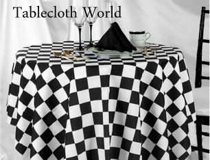 Checkered Table Cloth Checkered Race Car Birthday