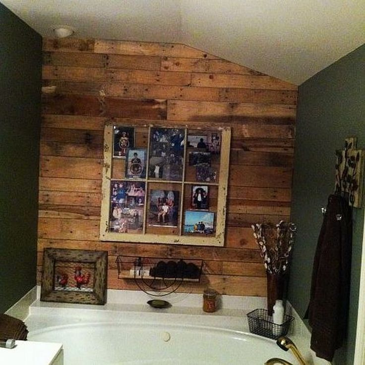 Rustic Towel Rack, Wood Pallets And Pallet Wall