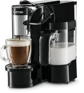 """Features & Benefits"" Gourmia GCM5500 - One Touch Automatic Espresso Cappuccino & Latte Maker Coffee Machine - Brew, Froth Milk, and Mix Into Cup with the Push of One Button- Nespresso Compatible #automaticespressomaker #lattemachine #lattemaker"