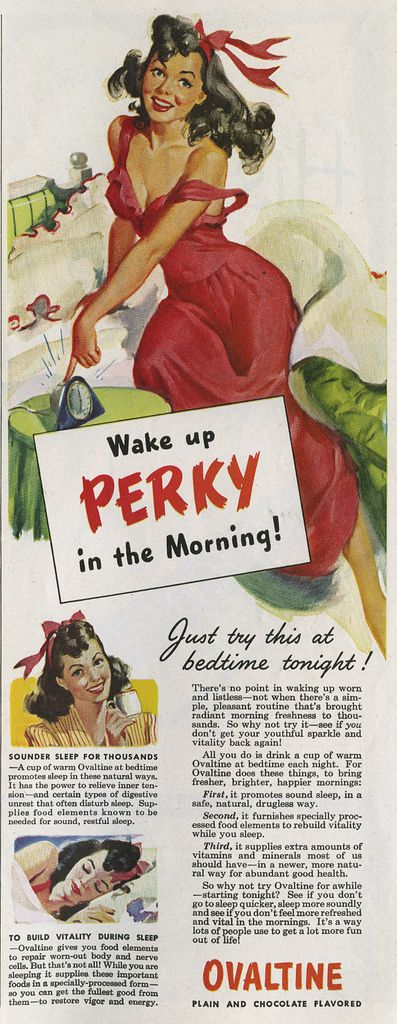 Ovaltine: Wake up PERKY in the Morning! ~ My husband definitely wants me to switch to Ovaltine if I can look and feel this great in the mornings!
