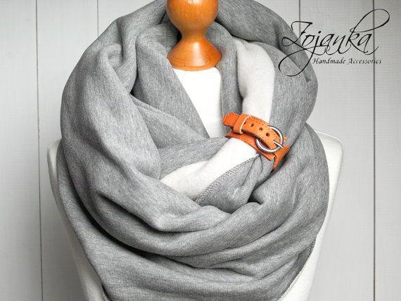 PLUS grosse écharpe avec manchette en cuir foulards à par Zojanka